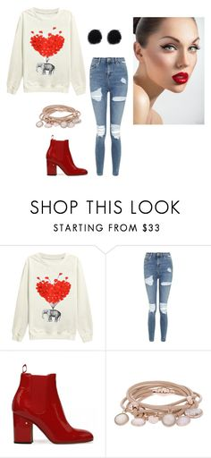 """Untitled #14523"" by jayda365 ❤ liked on Polyvore featuring beauty, Topshop and Marjana von Berlepsch"