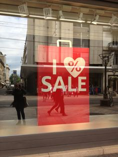 "C - ""sale"" window display - Geneva - July 2013"