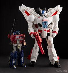 Optimus Prime and Skyfire by nadav