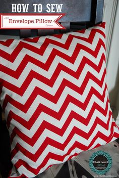 How to sew envelope pillows - no zippers but still easy to pull off for washing