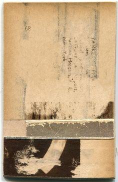 """zachcollinsart:  """"22zc15"""" 2.25x3.5 inch paper collage 2015"""