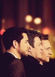 Tom Hiddleston, Zachary Levi, Nathan Fillion at the LA premiere. Via Twitter.