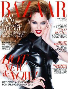 Coco Rocha for Haper's Bazaar Singapore Magazine, April 2012 V Magazine, Fashion Magazine Cover, Fashion Cover, Magazine Covers, Vanity Fair, Cosmopolitan, Vogue, Marie Claire, Nylons
