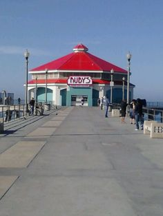 Ruby's Diner at the end of the HB pier. No different than any other Ruby's but location, location, location!