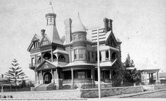 Vintage Los Angeles photo - Bradbury Mansion 1880s, old Hollywood. (As in the Bradbury Building downtown.)