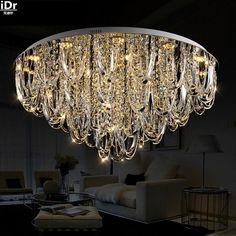 European modern minimalist living room lamp crystal lamp bedroom lamp LED Crystal Round Ceiling Lights Rmy-092