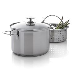 Stainless 4 qt. Vegetable Steamer by Berndes for Crate and Barrel in Specialty Cookware | Crate&Barrel