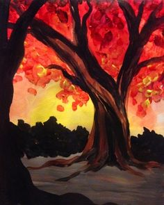 """""""Fall Maple"""" - Lindsey Sniffin - Paint Nite"""