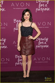 Lucy Hale Wants You To Embrace All Your Quirks: Photo #886141. Lucy Hale rocks two chic looks for the Mark. Holiday Collection event held at the Crosby Hotel on Wednesday afternoon (October 28) in New York City. The 26-year-old…