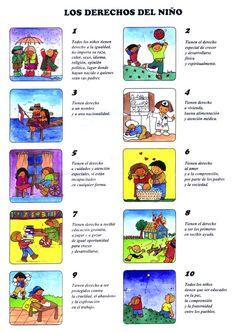 LOS DERECHOS DE LOS NIÑOS Thundercats, Learning Spanish, Human Rights, Elementary Schools, Chibi, Teaching, Comics, Album, Venom