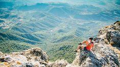 Blick vom Monte Corrasi ins Tal