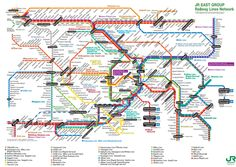 JR lines in Tokyo (excluding subway and shinkansen lines)