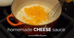 homemade cheese sauce - good, next time I would add some carlin and cayenne pepper or something to make it pop!  Uber easy, too