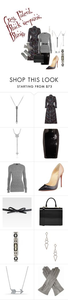 Grey. Patent. Black sequins. Bling. on Polyvore featuring Tom Ford, Christian Louboutin, Simone Rocha, Tiffany & Co., Karma Jewels, EF Collection, Anne Sisteron, Prada, Brooks Brothers and Dents