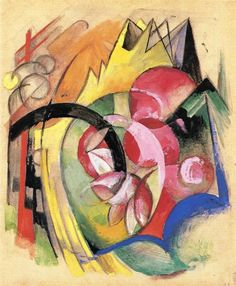 Coloful Flowers (Abstract Forms), 1914 Franz Marc