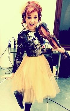Love her outfit. Lindsey stirling