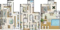 Para quem está procurando por Plantas de casas Triplex, poderá conferir 10 modelos logo abaixo e ter uma ideia de como construir sua casa.