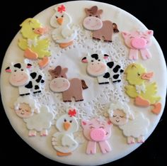 Farm Animals Cupcake Toppers, Farm Birthday Decoration, Boys Farm Baby Shower, Cute Baby Animals Farm, Farm First Birthday, Farm House Animals Cake Topper Baby Shower (Top Cupcake Nederlands)