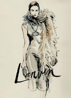 Lanvin 2013, illustration by Regina Yazdi