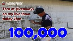 Live special edition as we have just hit 100,000 subscribers. Will be giving away lots of Titan spray tips, Sherwin Williams $50 gift certificates, a Titan airless sprayer, Paint Life shirts and more tools. Come watch 7pm mountain time USA.