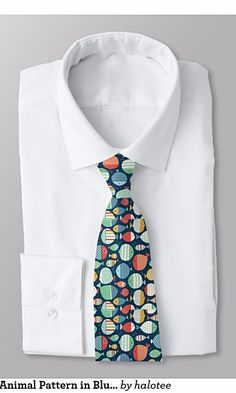 Beautiful Fish Animal Pattern in Blue background Tie This beautiful tie features Fish Animal Pattern in Blue background for him, for men, for man, for business man. Suitable for white, blue or other colors T-Shirts.  Check out https://www.zazzle.com/beautiful_fish_animal_pattern_in_blue_background_tie-151591298285823254?rf=238478323816001889 to get 25% off with code ZAZZSITEDEAL. See more products on collection…