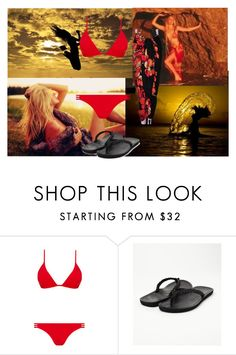 """""""New Haven Summer Celebration"""" by the-redneck ❤ liked on Polyvore featuring Melissa Odabash and Roxy"""