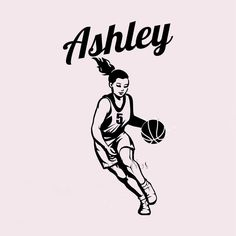 Customer-made Wall Stickers Home decor Decal mural Vinyl Wall Decal Decoration Basketball Player Girl Name -You Choose Name(China (Mainland))