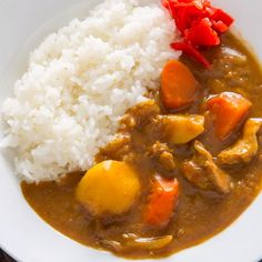 If you love Japanese Curry, then your'll love this quick and easy instant pot recipe. The pressure cooker cooks the curry sauce in just 15 min and tastes fabulous. Instant Pot Dinner Recipes, Easy Dinner Recipes, Easy Japanese Recipes, Homemade Japanese Curry Recipe, Korean Recipes, Cooking Recipes, Healthy Recipes, Cooking Tips, Le Diner