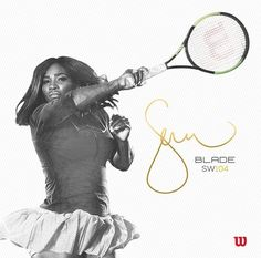 b3b60019010 Serena Williams wins her 23rd Grand Slam Title. See more. Serena Williams  Autograph Racket Tennis Racket, Venus, Blade, Sports, Serena Williams,