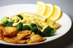 Treska zapečená so syrom a brokolicou Broccoli, Meat, Chicken, Vegetables, Food, Beef, Meal, Essen, Vegetable Recipes