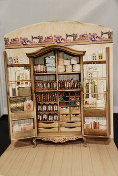 Haberdashery Cabinet - Kast naaifournituren - Nadine Claes - Atelier Little Magic