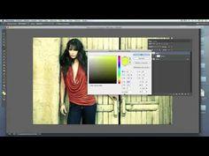 ▶ Proceso Cruzado en Photoshop - YouTube Fijarse sobretodo en las capas amarilla y azul