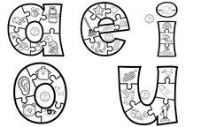 Vowel Activities, Spanish Activities, Infant Activities, Learning Spanish, Kids Learning, Spanish Worksheets, Abc Preschool, Preschool Classroom, Kindergarten Rocks