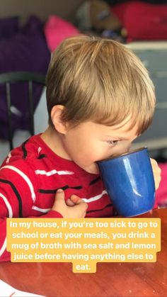 Our Drink-Your-Broth Sick Policy - Health, Home, & Happiness Gaps Diet, Winter Vegetables, Organic Chicken, Rich In Protein, Anti Inflammatory Diet, Some People Say, Sick Kids, Flu Season, Alternative Health