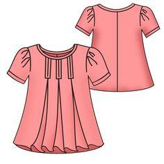 blusa para gestante com decote arredondado - Fátima Moldes