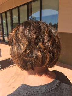 The perfect summer cut. Warm brunette bayalage. Done in Chandler Arizona by Peter G hair studios at Sola Salons