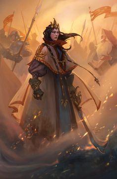 Rpg female character portraits d&d character art fantasy art High Fantasy, Fantasy Women, Fantasy Rpg, Medieval Fantasy, Fantasy Girl, Fantasy Artwork, Fantasy Paintings, Character Concept, Character Art