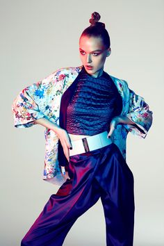 Glamour Italia Japanese Geisha Style Fashion Editorial with model Natasha Remarchuk