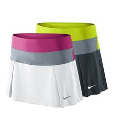 The Nike Women's Victory Court #Tennis #Skirt features side pleated detail for a timeless look. Color block waistband adds style. Get yours today by following the link >> http://www.tennisexpress.com/NIKE-Womens-Victory-Court-Tennis-Skirt-42815 #TennisExpressNIKE