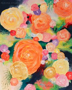Giclee Print from Original Acrylic by ParimaCreativeStudio on Etsy, $38.00