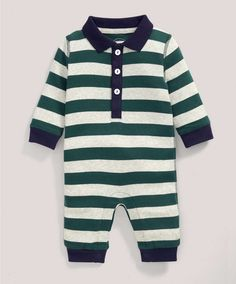 Striped Rugby Romper - Rompers | Bodysuits - Mamas & Papas