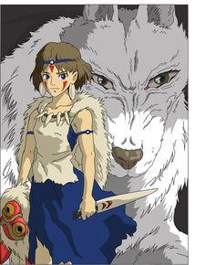 Hayao Miyazaki, Studio Ghibli Art, Studio Ghibli Movies, Princess Mononoke Cosplay, Totoro Merchandise, Ghibli Tattoo, Chihiro Y Haku, Girls Anime, Castle In The Sky