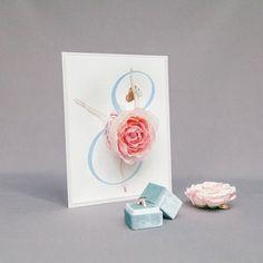 """Идея: номерки столов с цветами от студии """"Синие листья"""" Place Cards, Place Card Holders, Paper"""