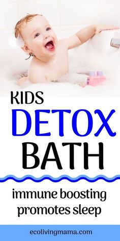 When I first learned that a detox bath for kids is a natural way to enhance their immunity, remove toxins AND promote sleep, I was ALL IN. With Epsom salts and essential oils, this soothing natural remedy is easy, gentle and perfect for children. Cold Remedies, Natural Home Remedies, Natural Healing, Herbal Remedies, Bloating Remedies, Natural Oil, Cough Remedies For Kids, Natural Beauty, Natural Detox