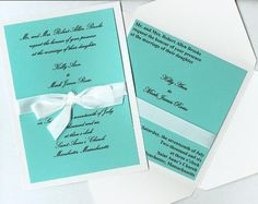 Tiffany Blue Wedding Invitations!
