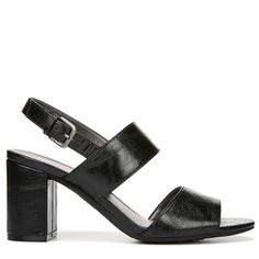 Lifestride Women's Chemistry Medium/Wide Dress Sandals (Black) - 11.0 W