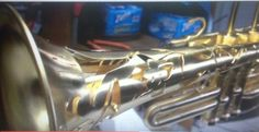 (close up shot) Monette Thomas Music Clinic. Super Cool Outer Shell on a custom designed pro trumpet
