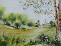 Watercolor Canvas, Watercolor Landscape, Art Et Illustration, Illustrations, Fine Art Prints, Canvas Prints, Tree Art, Painting Inspiration, Online Art