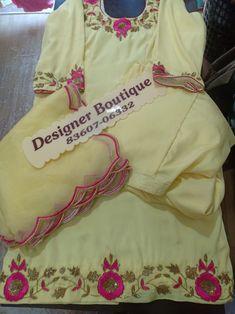 Embroidery Suits Punjabi, Kurti Embroidery Design, Embroidery Fashion, Cutwork Embroidery, Punjabi Suits Designer Boutique, Boutique Suits, Sleeves Designs For Dresses, Dress Neck Designs, Designer Party Wear Dresses