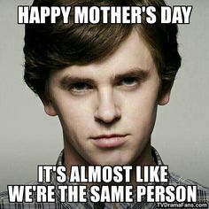 Bates Motel - Meme - Norman - Freddie Highmore - Mother's Day Card - TV Drama Fans